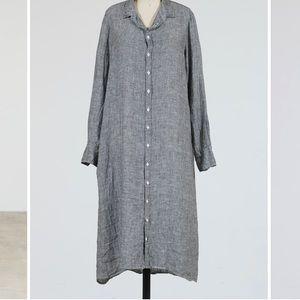 CP SHADES MAXI SHIRT DRESS (LINEN)